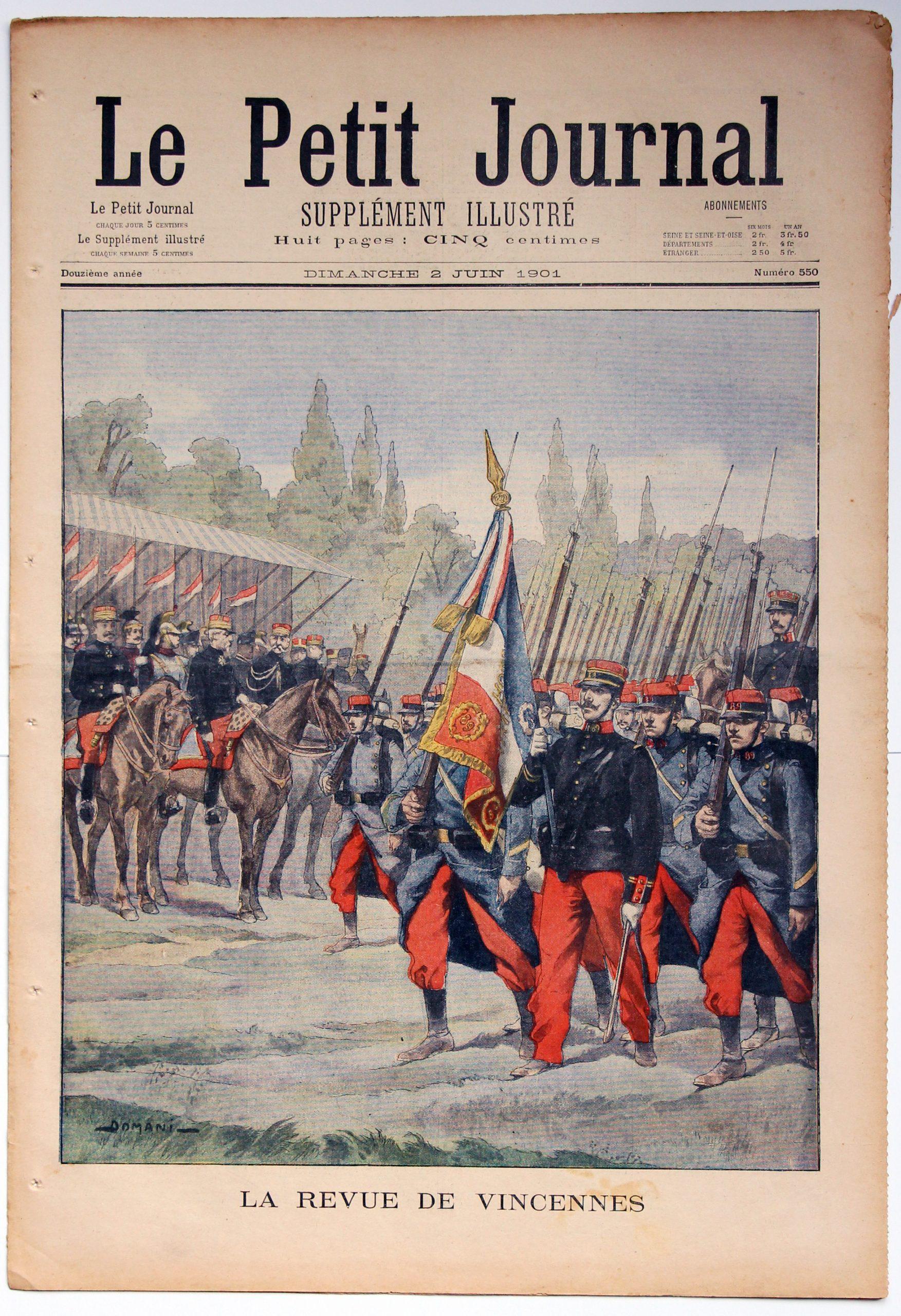 Le petit journal - supplément illustré - 2 juin 1901 - La revue de Vincennes