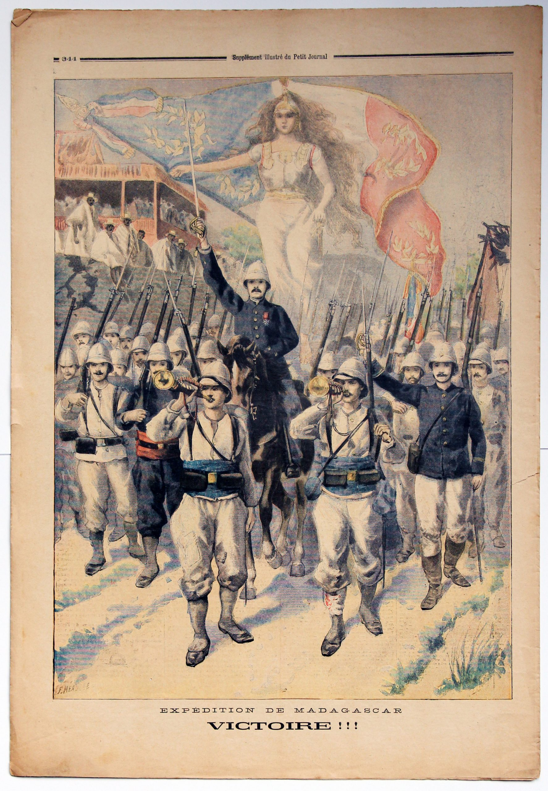 Le petit journal - supplément illustré - 27 octobre 1895 - Expédition de Madagascar - Victoire