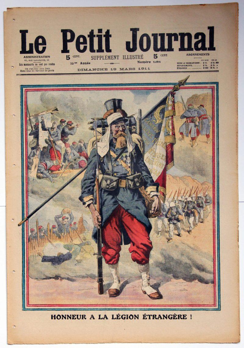Le petit journal - supplément illustré - 19 mars 1911 - Honneur à la Légion Etrangère