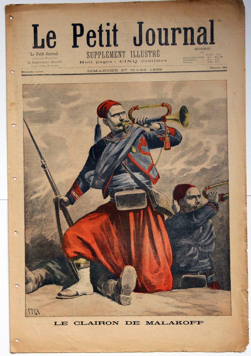 Le petit journal - supplément illustré - 27 mars 1898 - Zouave - Clairon de Malakoff