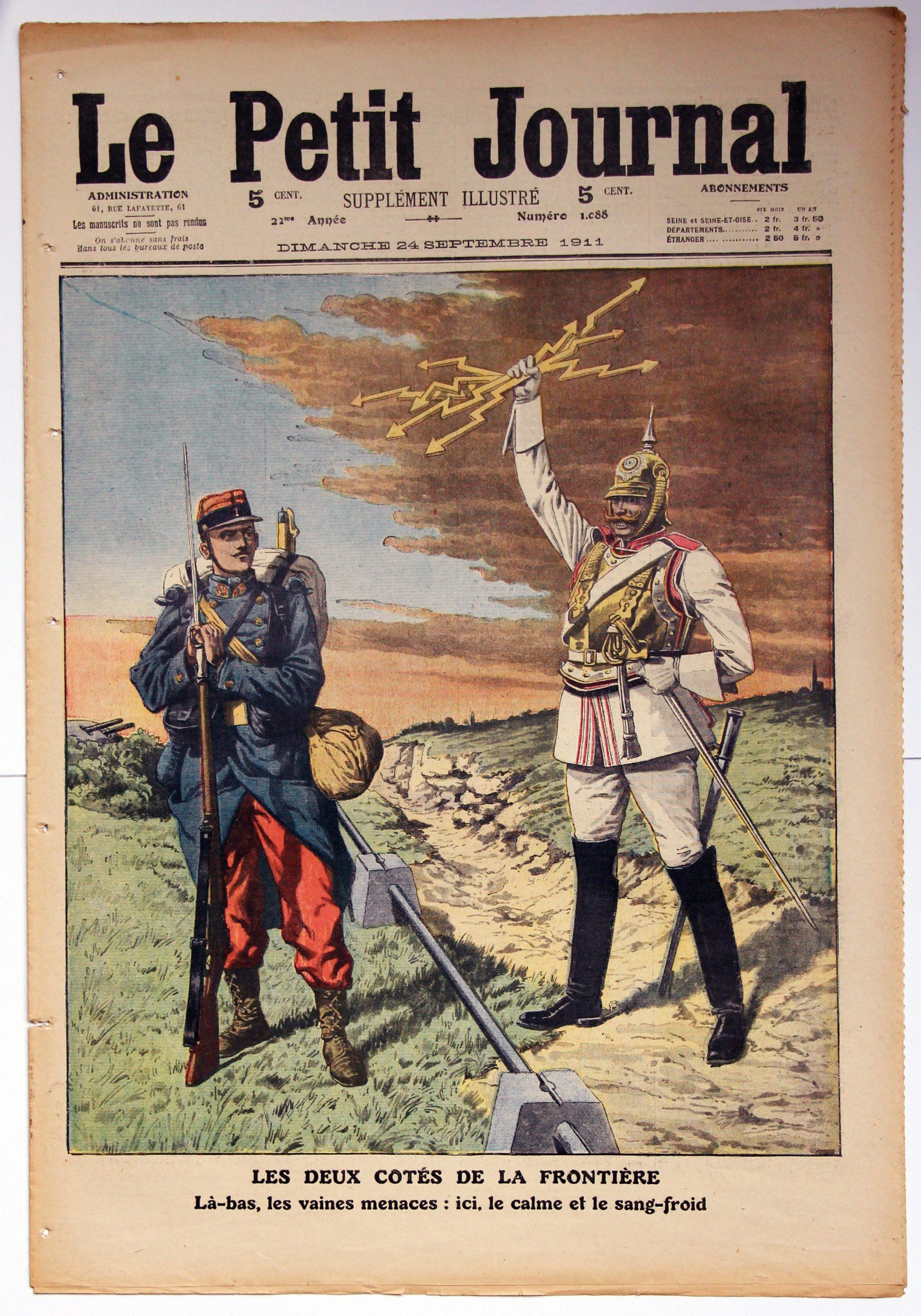 Le petit journal - supplément illustré - 24 septembre 1911- Les deux cotés de la frontière