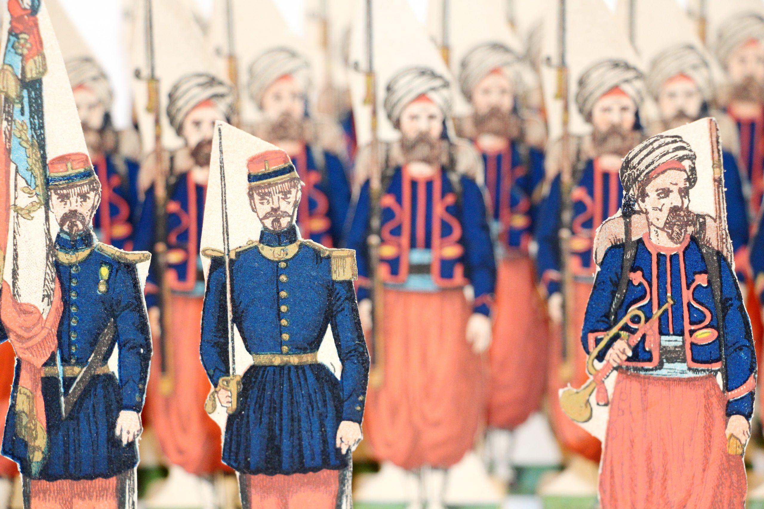 31 Petits Soldats de Strasbourg - Zouaves de Ligne 1872 - Planche Fischbach - Uniforme - 3ème République