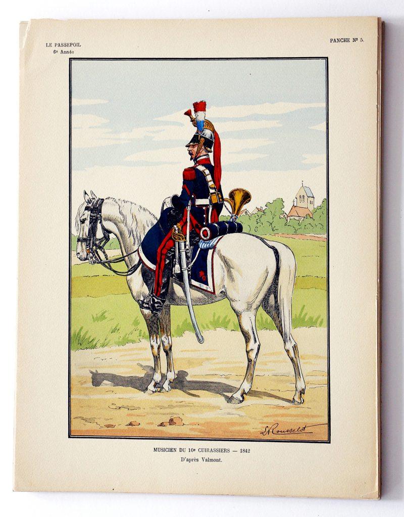 Musicien du 10e Cuirassier 1842 - Lucien Rousselot - Le Passepoil