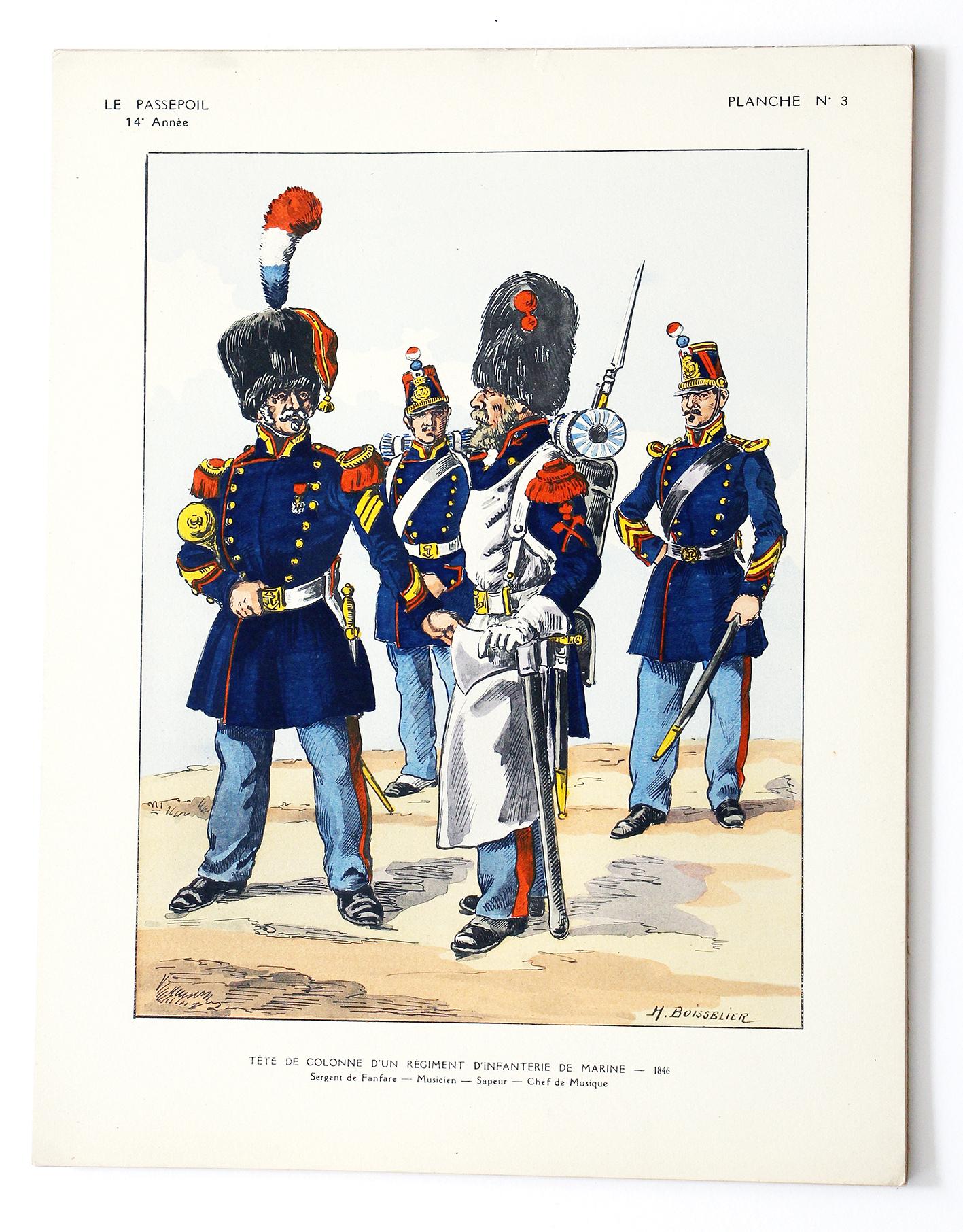 Tête de Colonne d'un Régiment d'Infanterie de Marine - Henri Boisselier - Le Passepoil
