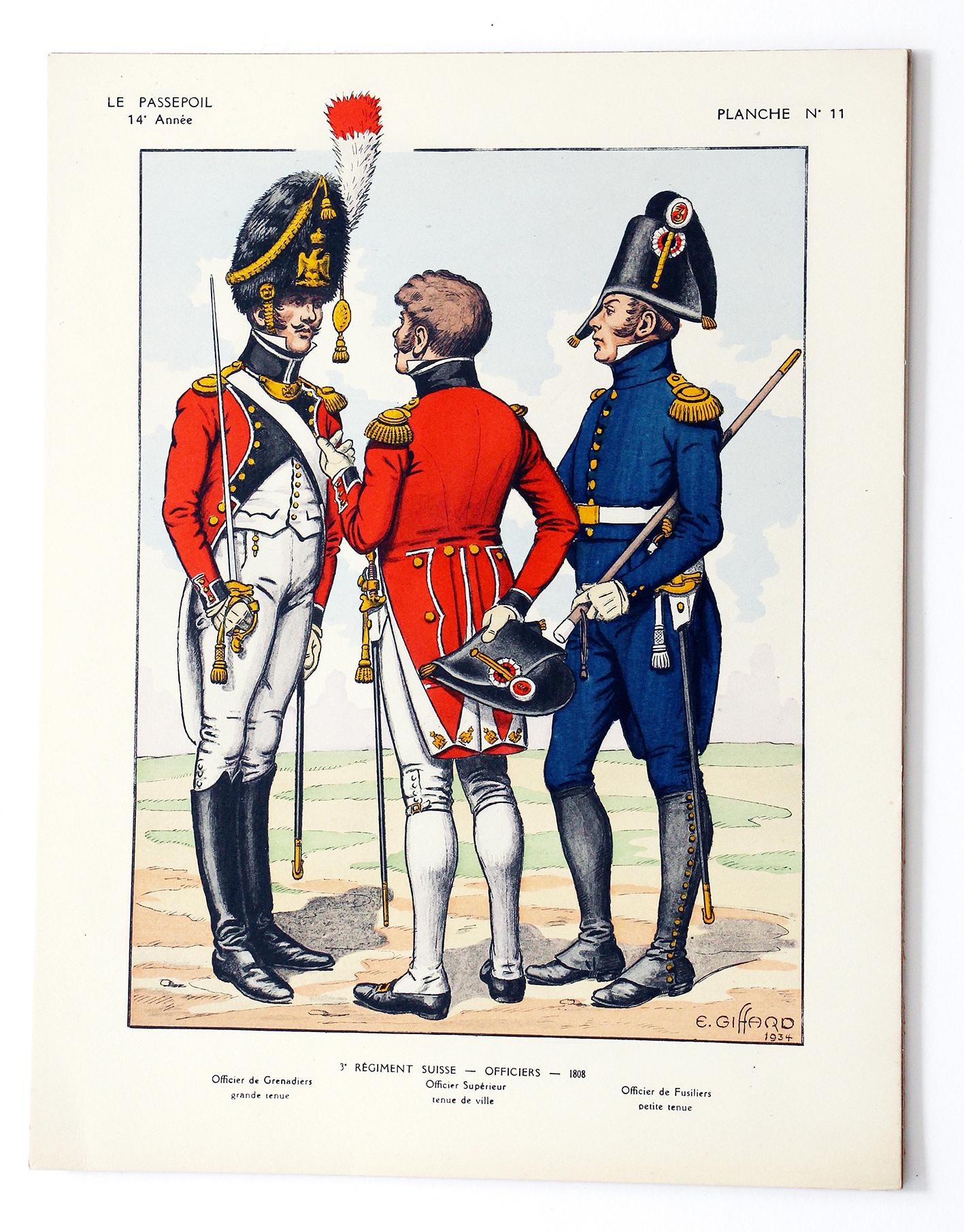3 Régiment Suisse 1808 - E.GIFFARD - Le Passepoil