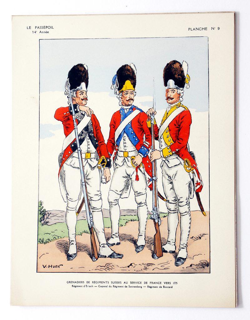Régiment Grenadiers Suisses au service de la France - Victor Huen - Le Passepoil