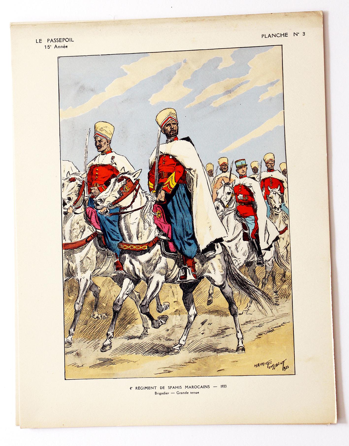 4 Régiment de Spahis Marocains - Maurice Toussaint - Le Passepoil