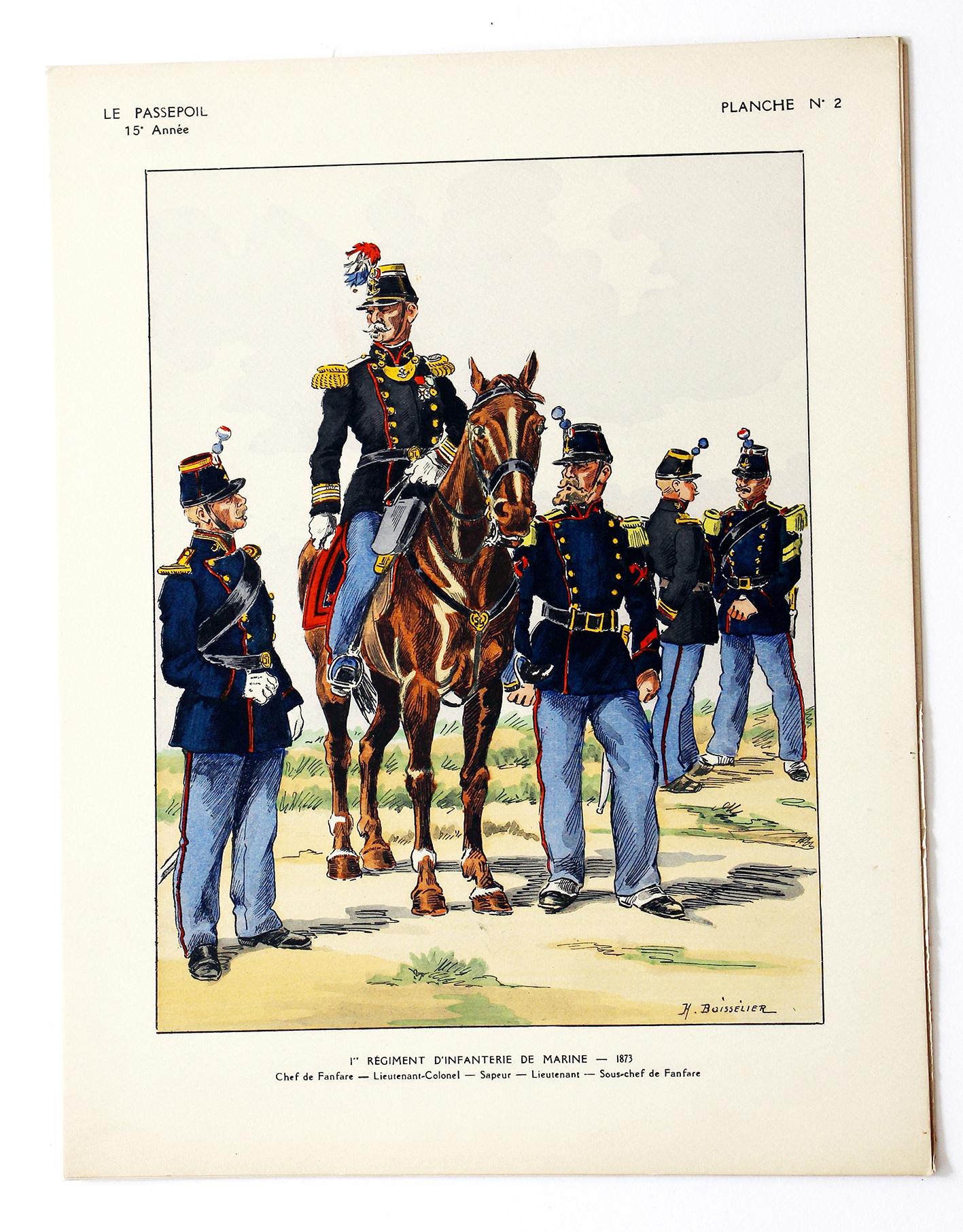 1 Régiment d'Infanterie de Marine - 1873 - Henri Boisselier - Le Passepoil