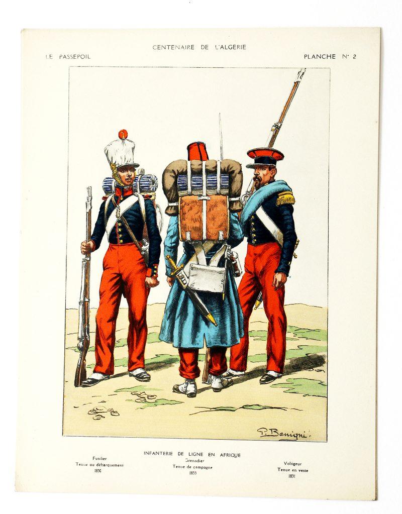 Le passepoil année 1931 complète - 11 année N°1 et 2 - Bucquoy - Uniformes Armée Française -Centenaire de la Conquête de l'Algérie