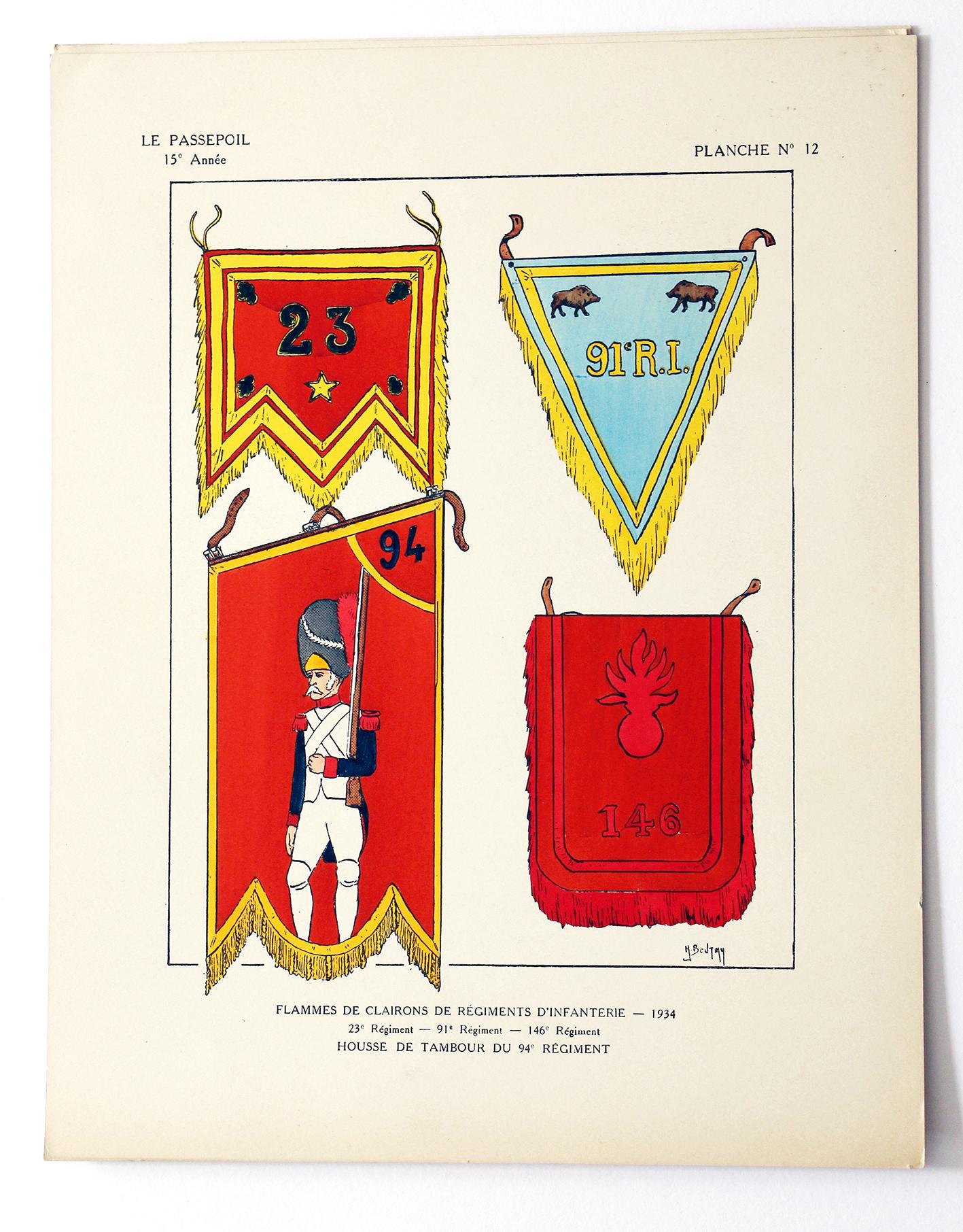 Le passepoil année 1935 complète - 15 année N°3 - Bucquoy - Uniformes Armée Française