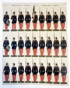 Infanterie_française_G. FISCHBACH_Planche 1_1872