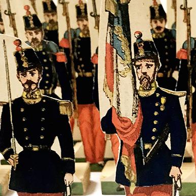 Petits Soldats de Strasbourg - Infanterie de Ligne 1872 - Planche Fischbach - Uniforme - 3eme Republique
