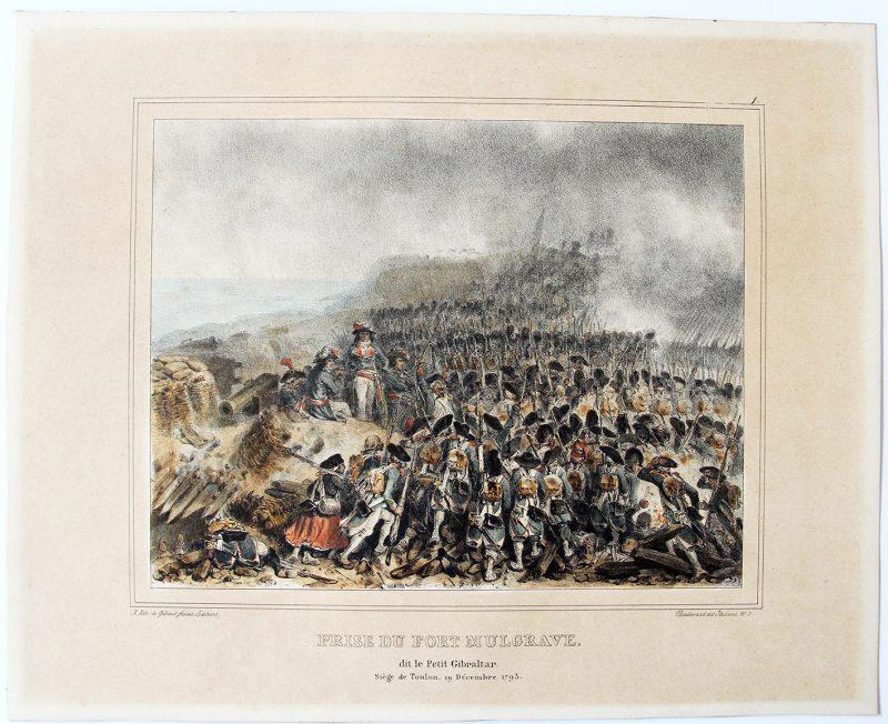 2 Gravures XIX - Raffet - Révolution - Empire - Siège de Toulon et Abordez l'ennemi franchement, à la baïonnette - 1792