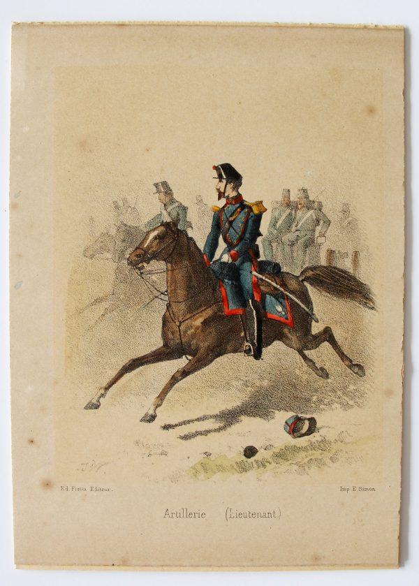 8 cartes - Uniforme de l'armée Second Empire - France 1870 - Carte illustrée Couleur rehaussée Fietta Strasbourg