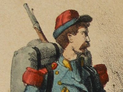 8 cartes - Uniforme de l'armée Second Empire - France 1870 - Carte illustrée Couleur rehaussée Fietta Strasbourg