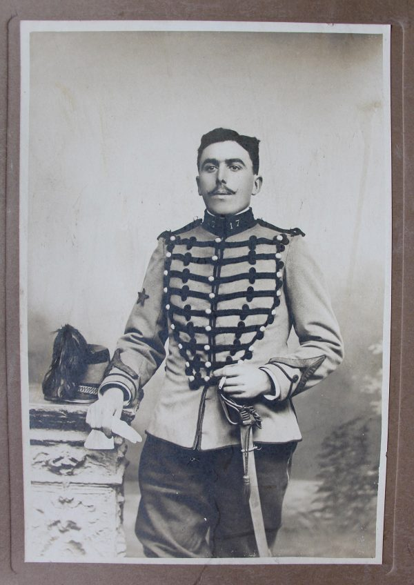 Ancienne Photographie - Grand portrait - Chasseur à cheval 3ème République - Nancy 17ème Régiment