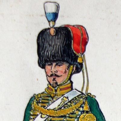 Dessin original - Planche Hector Large - Les Guides de la Garde - Second empire - 1857/1860 - Napoléon III