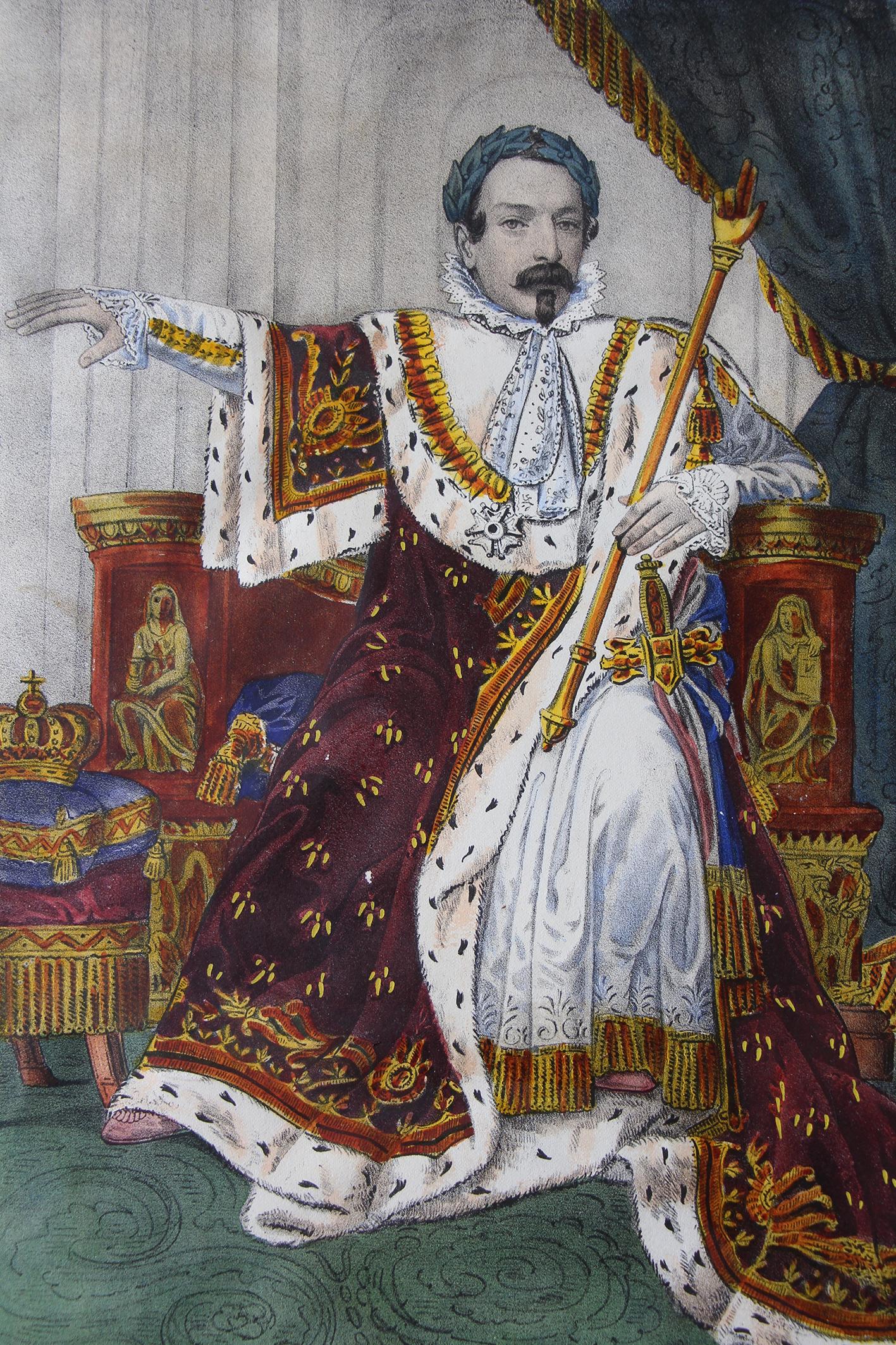 Imagerie - Napoleon III - Sacre - Empereur des Français - Gravure - Cérémonie - Second Empire