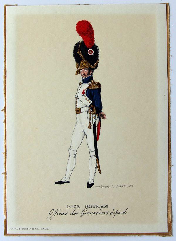 5 Petites peinture originales - Garde Impériale - Edmund Wagner - D'après Martinet