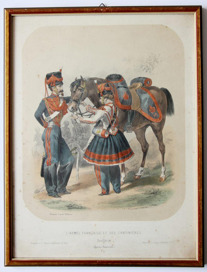 Uniforme Second Empire Artillerie de la Garde - Fortuné d'après François Hippolyte Lalaisse - Cantinière - Sorrieux