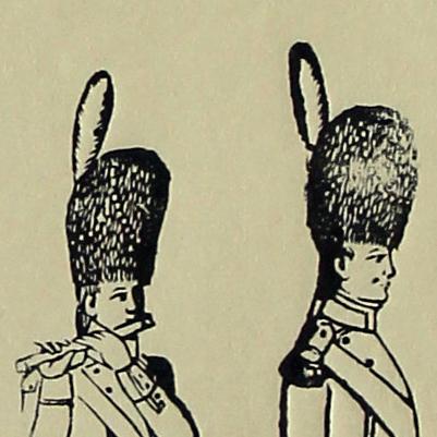Planche Petits Soldats - Gravure sur bois sur grande feuille - Tirage imprimeur - Type tirage Epinal - Imagerie Pellerin - Grenadier 1er Empire