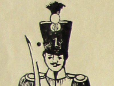 Planche Petits Soldats - Gravure sur bois sur grande feuille - Tirage imprimeur - Type tirage Epinal - Imagerie Pellerin - Infanterie 1er Empire