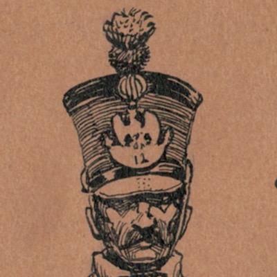 Carte Postale - Dessin plume encre original - Karl Alexander Wilke - Infanterie France - Napoléon - 1809 - 1er Empire - Bucquoy Lieutenant