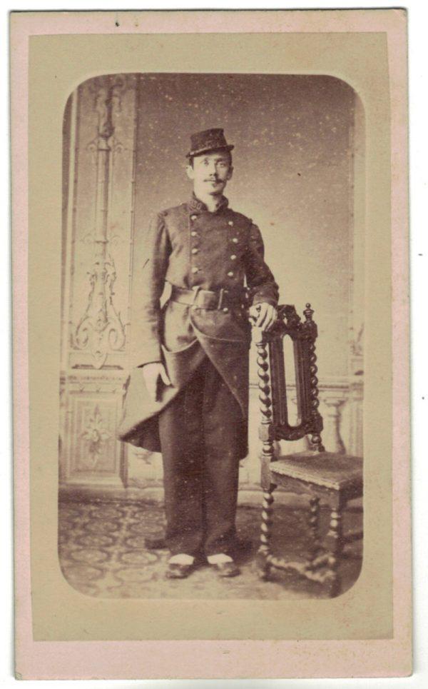 CDV Soldat Français - 130 Régiment Infanterie - 3ème République - Baïonnette - Médaille - Photographie Poly - Paris