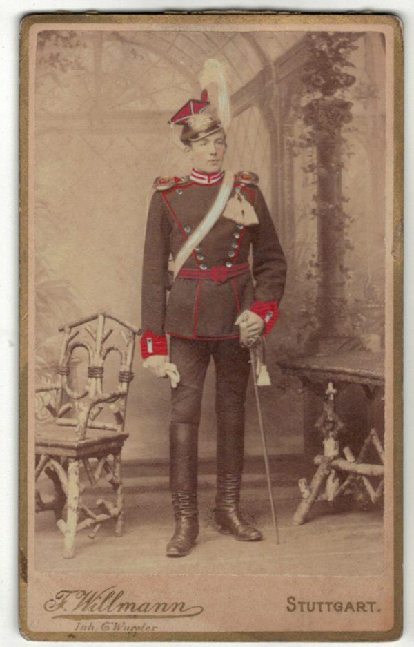 CDV Soldat Allemand - Armée Cavalerie - Grande tenue - Uhlan - Sabre - Stuttgart