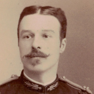 CDV Soldat Français - Officier - 3ème République - Tunique Officier détaché à l'état Major - Chambéry 1887