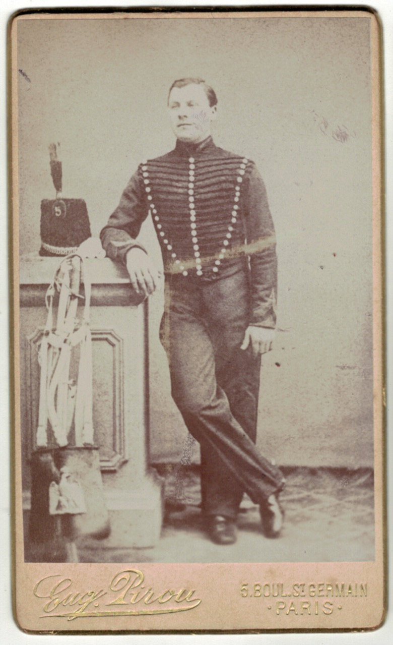 CDV Soldat Français - 5e Régiment Chasseur à Cheval - Second Empire - 1870