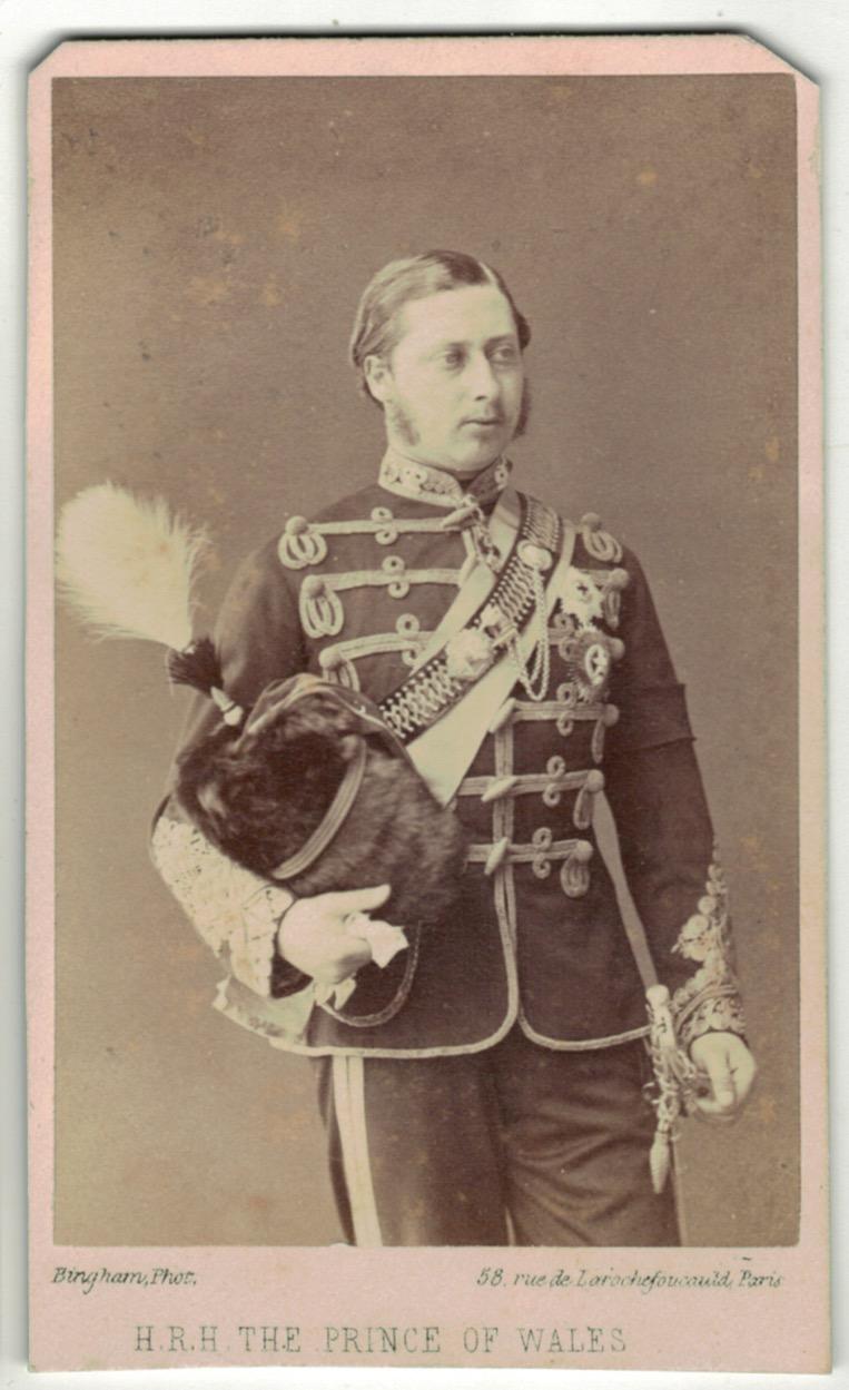 CDV Prince de Galles - Prince of Wales - Hussard - 1870 - Photo Bingham Paris - Édouard VII