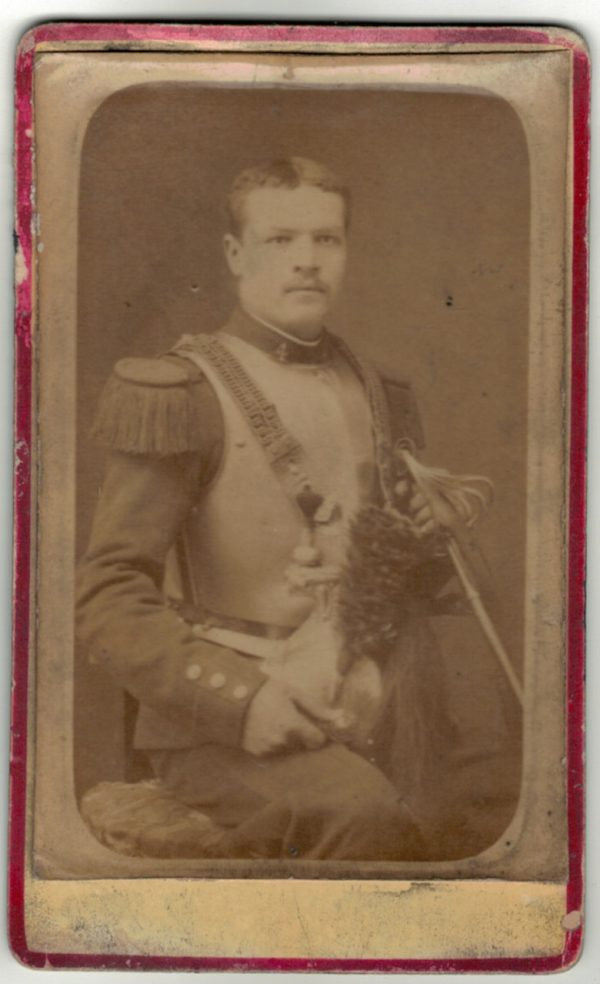 CDV Soldat Français - Cuirassier - 3ème République - Cabinet Photo - Lyon
