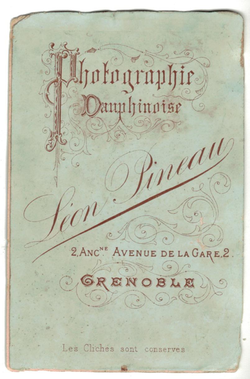 CDV Soldat Français - Artillerie de Montagne - 3ème République - Tunique - 1880 - Grenoble
