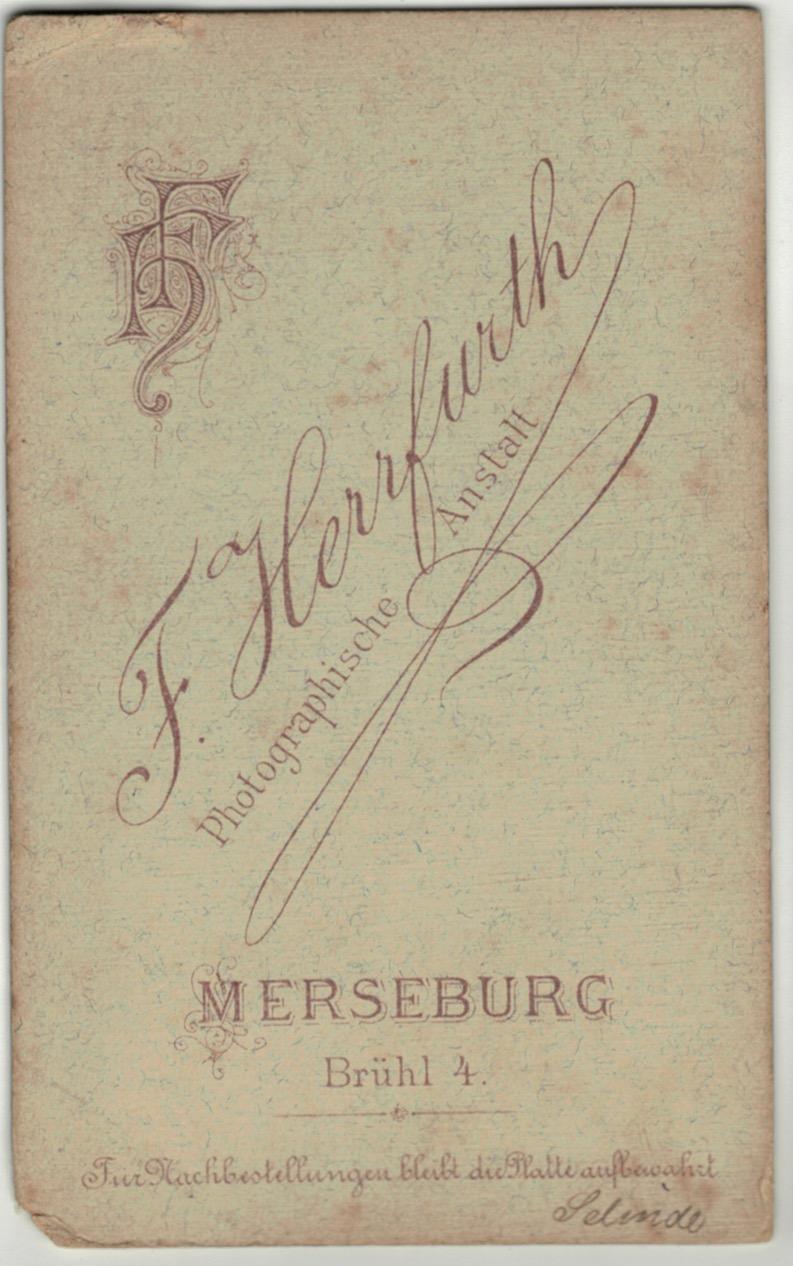 CDV Soldat Allemand - Armée Cavalerie - Grande tenue - Hussard - Sabre - Merseburg