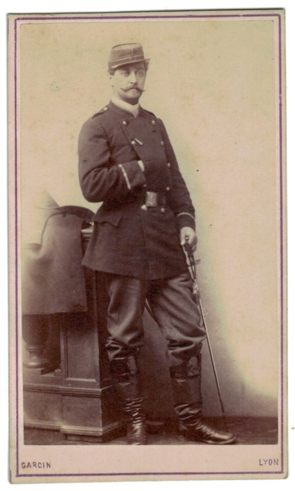 CDV Soldat Français - Mobile - Lyon - Second Empire - 3ème République - Officier - 1871