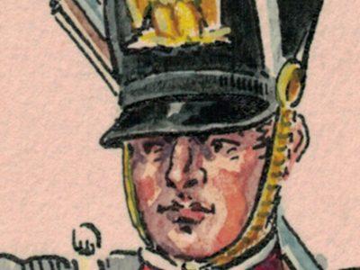 Peinture originale rehaussée - Tirailleurs de la garde Impériale - Henry Boisselier - Gouache - Napoléon - 1er Empire - Uniforme