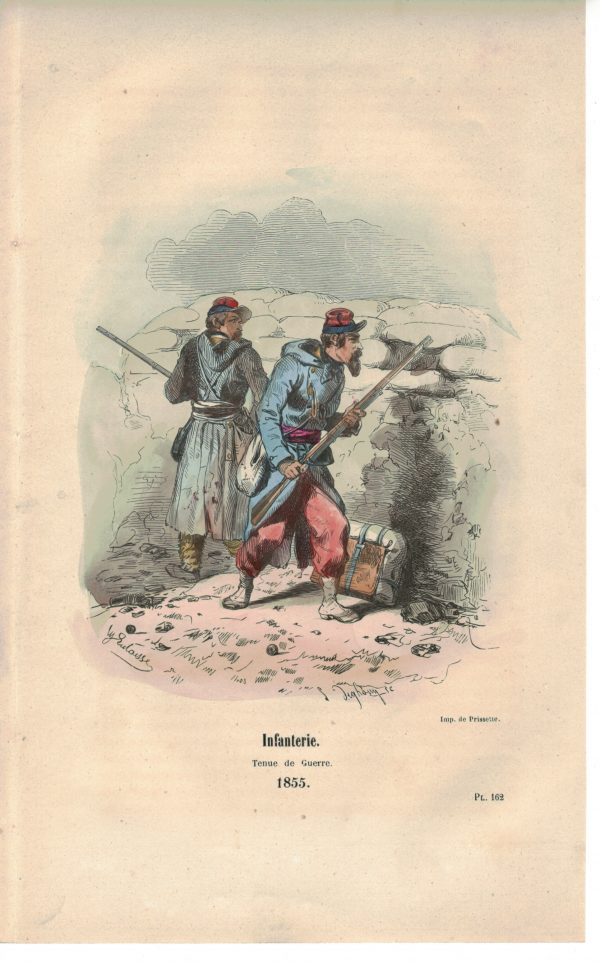 25 planches imagerie - Napoleon III - Armée Française - Uniforme - Second Empire - Gravure rehaussées