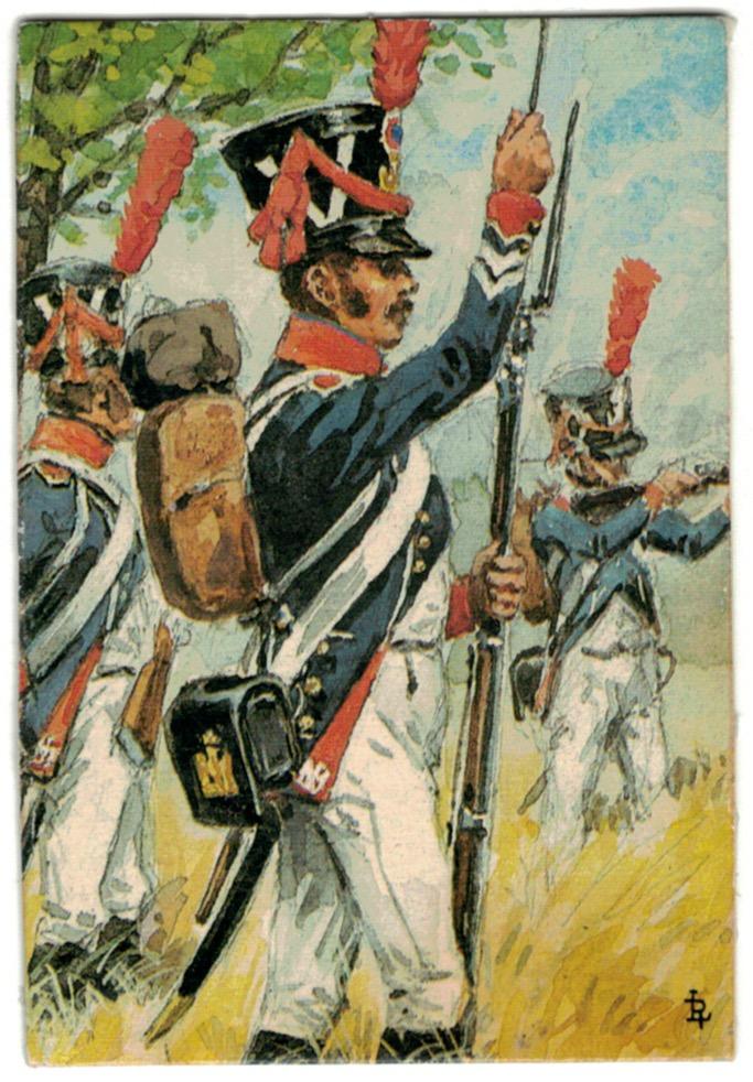 Lot de 23 dessus de boite d'allumette illustrées par Lucien Rousselot - 1er Empire - Napoléon 1er - Uniformes - Armée Française