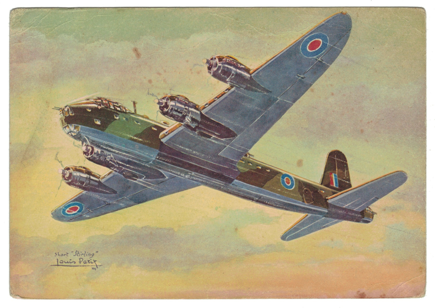 Série 18 Cartes Postale - Aviation - Guerre 39/45 - Illustration Louis Petit - Atelier D'art L.E.P. Paris 9e