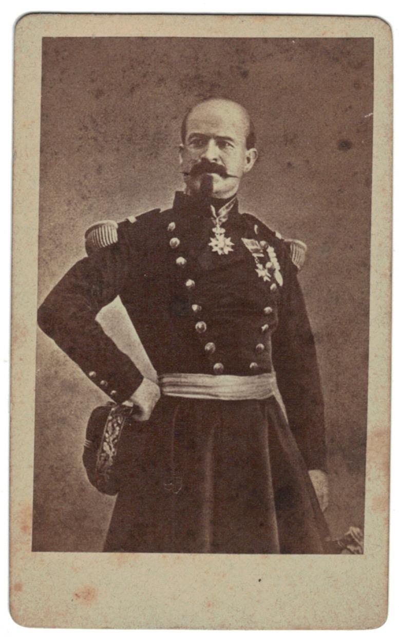 CDV - Cabinet Card - Second Empire - Louis Jules Trochu - Général de division et homme d'État français sous le Second Empire - Napoléon III - 1870