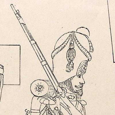 Petits Soldats de Strasbourg - Planche Jules Schneider - Garde Impériale Second Empire