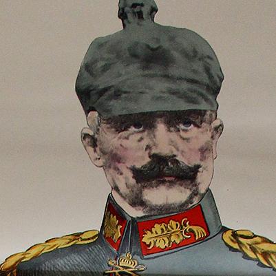 Grande planche dépliante Wissembourg Kaiser Wilhelm II - Guillaume II - Guerre 14/18