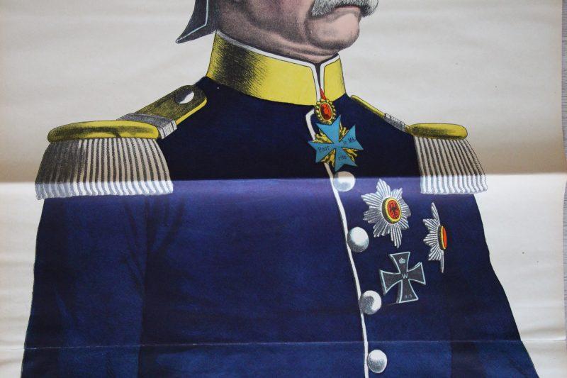 Grande planche dépliante Wissembourg Bismarck - Otto von Bismarck - 1898 - Chancelier impérial d'Allemagne