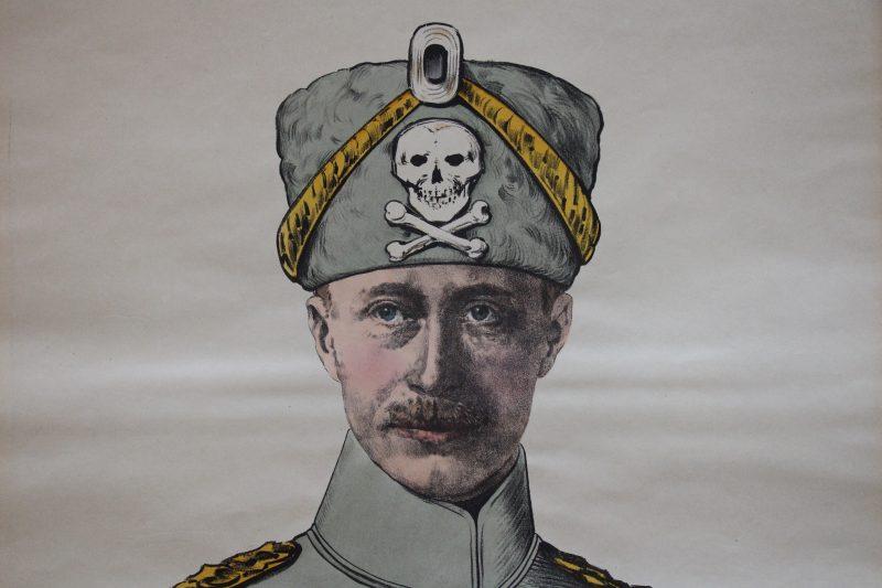 Grande planche dépliante Wissembourg Kronprinz - Guillaume de Hohenzollern - Guerre 14/18
