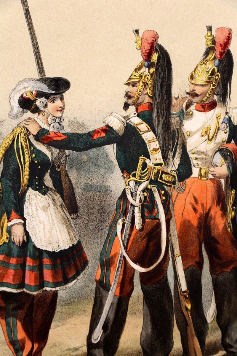 Uniforme Second Empire Dragons de la Garde - Fortuné d'après François Hippolyte Lalaisse - Cantinière - Sorrieux