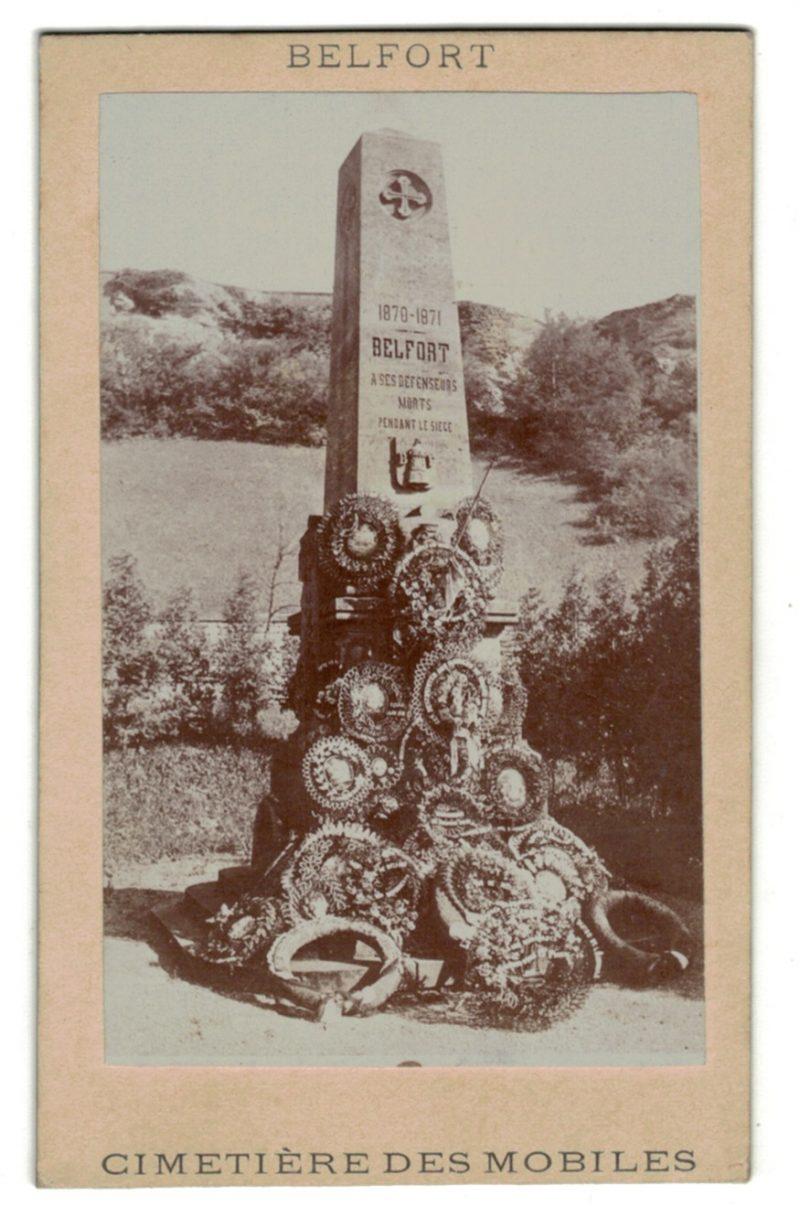 CDV Soldat Français - Mobiles - Belfort - Second Empire - 3ème République - Monument aux morts - Cimetière
