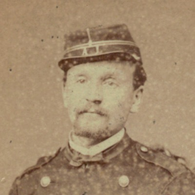 CDV Soldat Français - Mobile - Lyon - Second Empire - 3ème République - Officier - 1871 - Pistolet