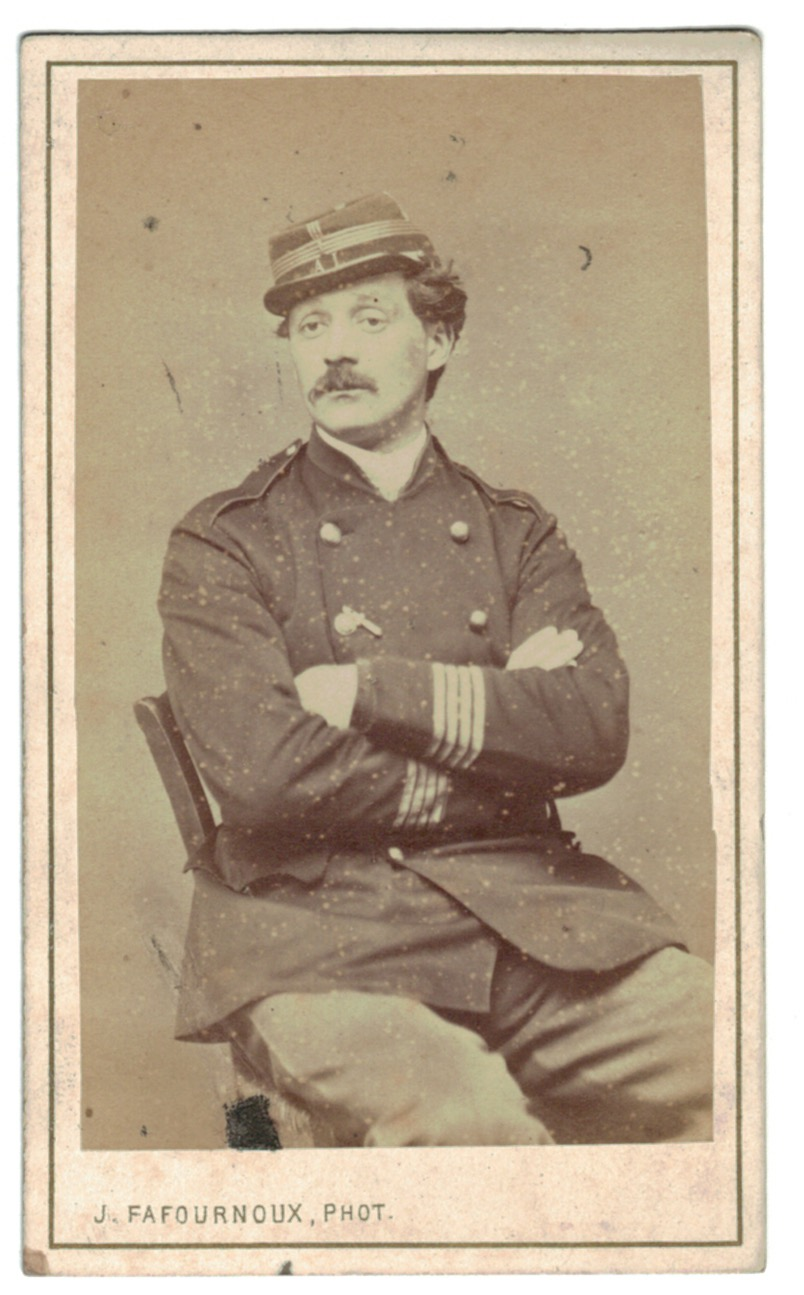 CDV Soldat Français - Mobile - Lyon - Second Empire - 3ème République - Officier - 1871 - Capitaine