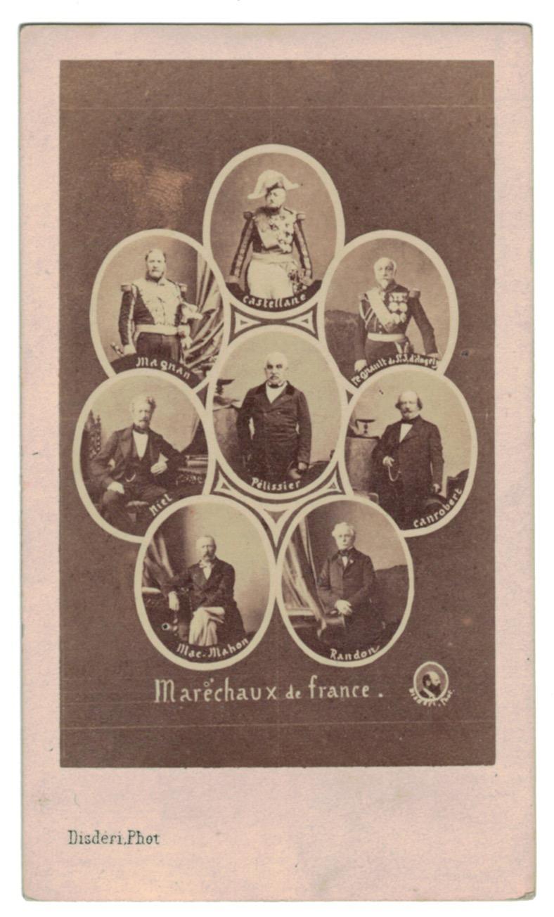 CDV - Disderi - Carte CDV Mosaïque Procédé - Second Empire - Maréchaux - Amiraux - Généraux - Famille Impériale